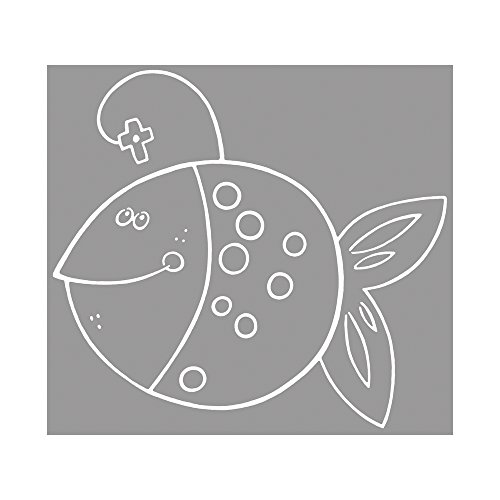 RAYHER Stempel, Erleuchtet, Gummi, Grau, 0.7 x 0.7 x 0.25 cm