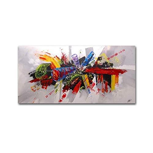 La Vie Cuadro Abstracto Impreso Sobre Lienzo Estirado