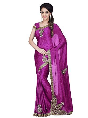 Sareeshop Silk Saree With Blouse Piece (Mancholipink_Pink_Free Size)