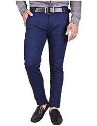 Nation Polo Club Men's Slim Fit Cotton Lycra Blend Casual Trouser