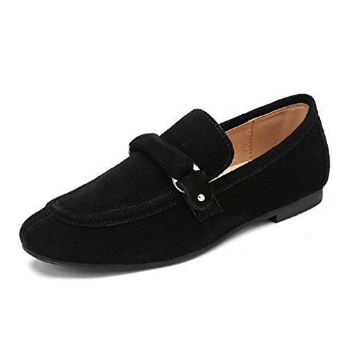 7cd4a48a940a Hwf Chaussures Pour Femmes Chaussures Pour Femmes De Printemps Style  Britannique Bouche Peu Profonde Chaussures De