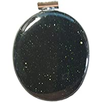 KRIO® - schöner großer Goldfluß grün/Grünfluß Anhänger mit Silberöse preisvergleich bei billige-tabletten.eu