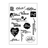 Chaunce Transparent Tampon Tampons Scrapbooking Feuille Transparente de Joint de Silicone de Timbre de pour l'album de Carte de métier de Scrapbook de DIY
