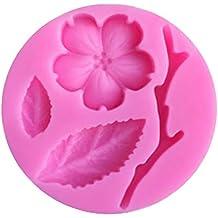 Ruikey Molde de Silicona para Fondant,3D Flor de Melocotón Molde de Torta, Molde