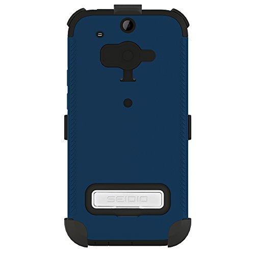 Seidio BD4-HKR4HTM8-RB Convert Hülle mit metallischen Kickstand Combo für HTC One (M8) königsblau Seidio Convert Holster