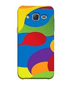 FUSON Designer Back Case Cover for Samsung Galaxy J2 J200G (2015) :: Samsung Galaxy J2 Duos (2015) :: Samsung Galaxy J2 J200F J200Y J200H J200Gu (Gliding Mobile Wallpaper Floral Patterns Shining Dark Patterns)