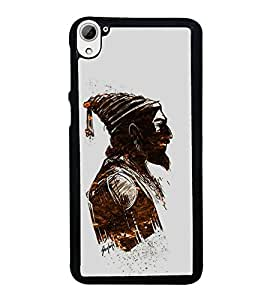 FUSON Shivaji Maharaj Graphic Painting Designer Back Case Cover for HTC Desire 826 :: HTC Desire 826 Dual Sim