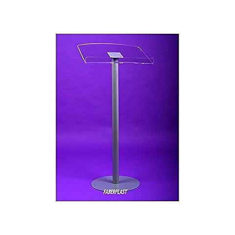 Pupitre d'exhibition plexiglas sur pied métallique et