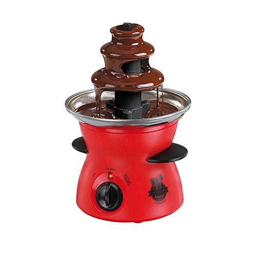 Schokoladenbrunnen Schokolade Schokobrunnen mit drehender Fontäne 300 ml (Schokoladenfontäne, Elektrisch, Temperaturregelung, Rot)