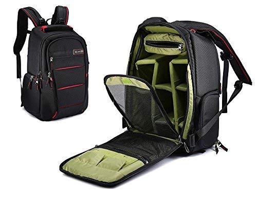 Multifunktions-DSLR-SLR-Kameratasche Reise-Outdoor-Tablet-Laptop-Tasche Wasserdichte, dauerhafte Kamera-Rucksack für Sony Canon Nikon Olympus SLR / DSLR Kameras, Objektiv und Zubehör (Red-S)
