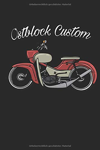Ostblock Custom: Simson Star, Moped, DDR, Taschenkalender, Kalender 2020, Terminplaner