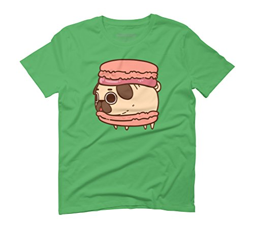 Puglie Macaroon Men's Graphic T-Shirt - Design By Humans Green