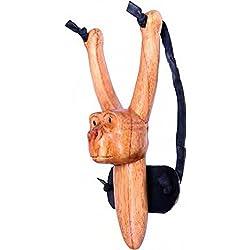 Mejor los 1226 tirachinas de mono de peluche, aprox, de alta 22cm, tallado a mano