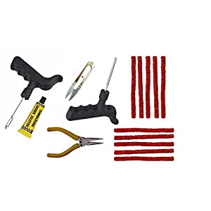 amiciAuto Tubeless Tyre Puncture Repair Kit