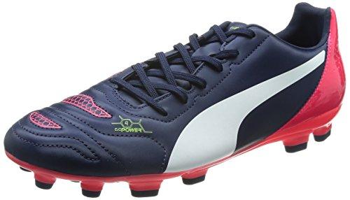 Puma evoPOWER 4.2 AG Herren Fußballschuhe Blau (peacoat-white-bright plasma 01)