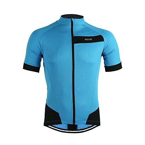 ARSUXEO all'aperto Sport Ciclismo Jersey primavera estate Bike biciclette maniche MTB abbigliamento camicie-blu-S