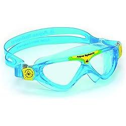 Aqua Sphere Vista Jr Joven Unisex Gafas de natación - Gafas de natación (Unisex, Azul, Transparente, Azul, Silicona, Joven)