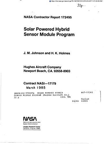 Solar powered hybrid sensor module program (English Edition) -