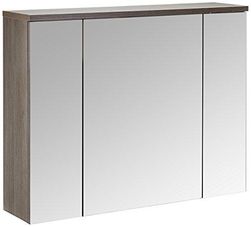 Trendteam ADO50521 - Armario para lavabo con espejo medidas 96x 73x 22cm, plateado ahumada
