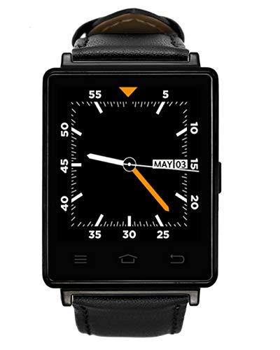 QHCGOOD Smart Watch, 1,63 Zoll OLED-Display, mit SIM Card Slot Schrittzähler Fitness Tracker für ios iPhone Android (schwarz) Black (3g Black Iphone 8gb Apple)