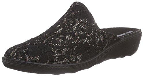 Romika Damen Romilastic 396 Pantoffeln Schwarz (schwarz 100)