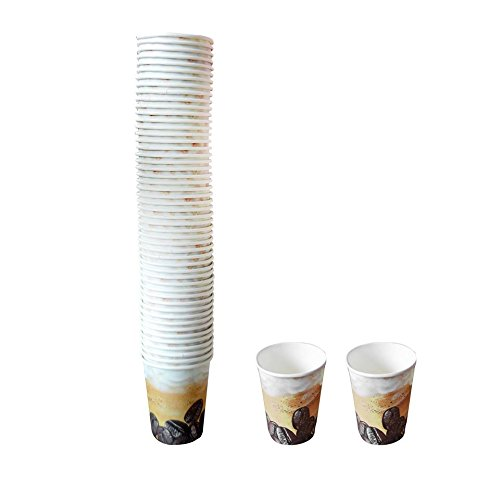 Pack 50 vasos desechables papel kraft bebidas calientes