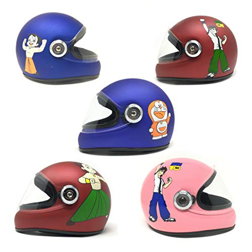 Essential Safety Baby Full face Helmet for Kids with Impressive Decals (3-12 Years) - Random Colour