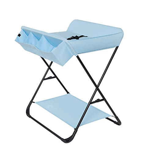 Faltbarer Wickeltisch Neugeborenes Baby Folding Nursing Table Multifunktionsmassagetisch Blau