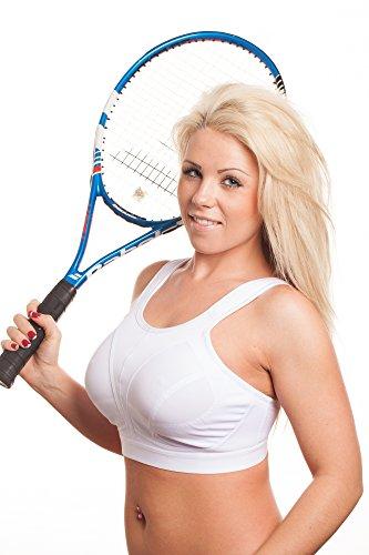 Sport-BH ohne Bügel in Plus- Größe, für starke Belastbarkeit beim Laufen/Yoga/Fitness, für Frauen mit großen Brüsten Gr. 85J, - Full Sport-bh Impact