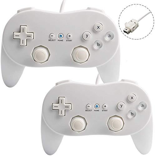 2x Classic Controller Pro GamePad für Nintendo Wii Weiß