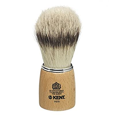 Kent Wooden Barrel Imitation Badger Shaving Brush Large