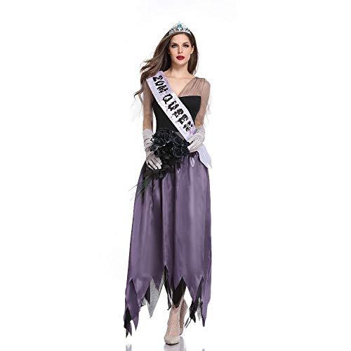 Kostüm Prinzessin Adult - Averyshowya Kostüme Prinzessin Lila Kostüme Adult Cosplay Lady Kleid Halloween Vampire Miss World @Lavender_XL