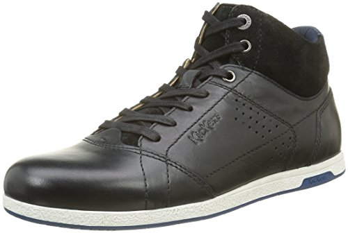 Kickers Barracuda, Baskets Hautes Homme Noir