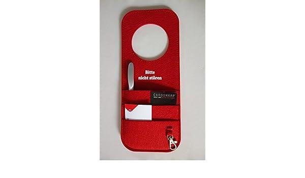 Tür-Organizer Filz für Handy Tasche Handytasche Smartphone Karabiner Aufschrift