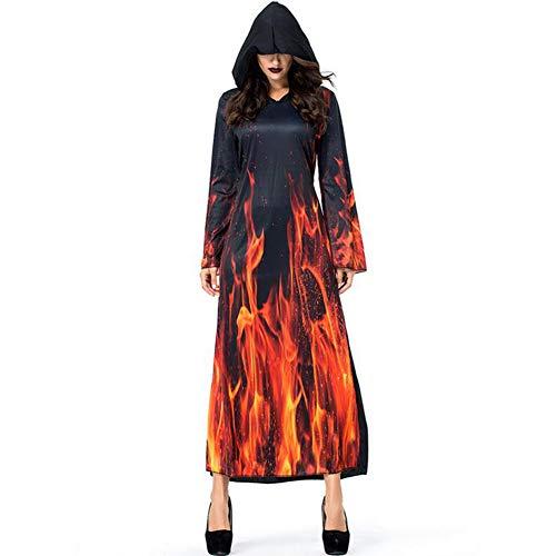 Klassische Hexe Für Erwachsene Damen Kostüm - CYYMY Damen Cosplay Hölle Flamme Teufel