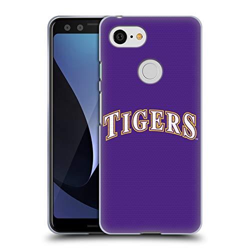 Head Case Designs Offizielle Louisiana State University LSU Baseball-Jersey Soft Gel Hülle für Google Pixel 3