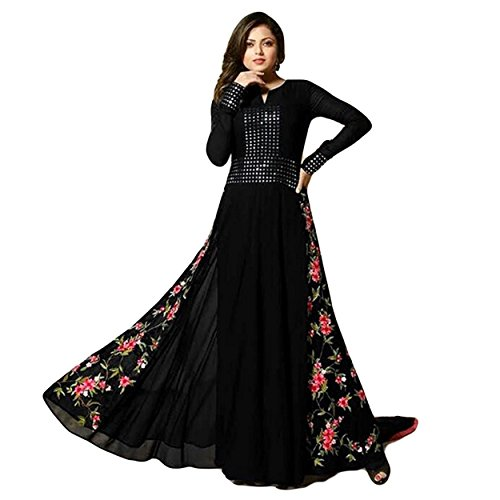 Ethnic Empire Black salwar Suit With mirror Work COLOR LATEST INDIAN DESIGNER...