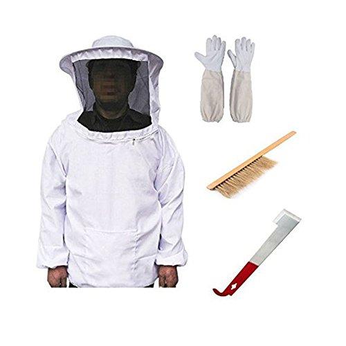 HANSHI neue professionelle Bienenzucht Jacke.Ultra Cool mit Kapuze Bienenzucht Anzug.Schutz für professionelle & Anfänger Imker.(FM01)