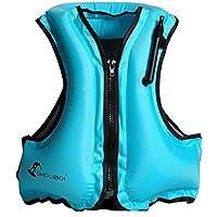 Hony Adulto Nadar Flotador Ajustable Traje de Traje de Baño Niños Inflable Ropa de Natación Traje de Surf para Niñas Chicos,Naranja Azul Verde Rosado