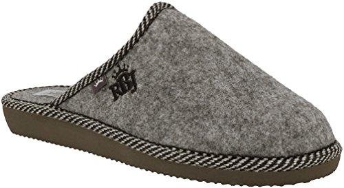 RBJ Damen Natur Wollfilz Pantoffeln – Atmungsaktiv, Warm und Gemütlich – IM Geschenkkarton (39, Grau Filz) (Clogs Mit Memory-schaum)