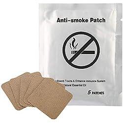 Parche antitabaco 5pcs Parche antitabaco Dejar de fumar Almohadilla Dejar de fumar yeso Dejar de fumar para fumadores