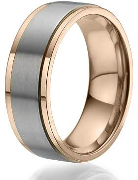 8mm gelb vergoldete Ring mit einem großen, stilvollen Titanband