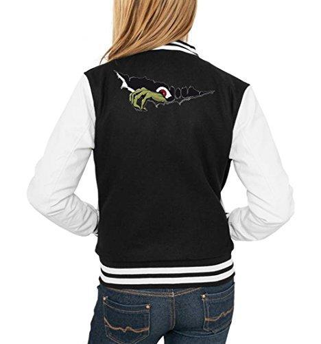 Monster Hand College Vest Girls Black Certified Freak-XL (College Kostüm Fuck)