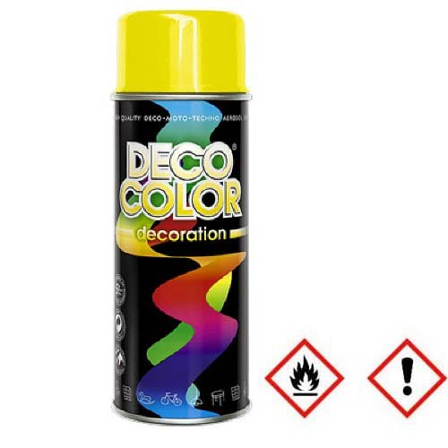 1 Stück 400ml RAL 1023 Lackspray Sprühlack Lack Farbe gelb / 10 001