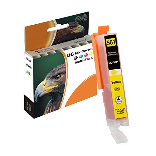 D&C Cartucce per stampante compatibili con Canon PGI580 CLI581 Pixma TR7550 TR8550 TS6150 TS6151 TS6250 TS8150 TS8151 TS8152 TS8250 TS9150 TS9155 TS9550 con chip 11,7ml Yellow