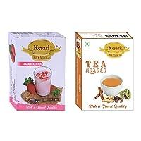 Kesari Strawberry Mix Milk Masala- 50 Gram, Kesari Tea Masala-50 Gram Combo