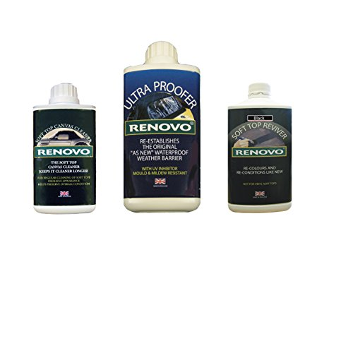 Renovo Ren-KIT2 Triple-Washer-Kit Enthält weiches Top Erneuerer/Soft Top Ultra Proofer/Soft Top Cleaner, Canvas Schwarz
