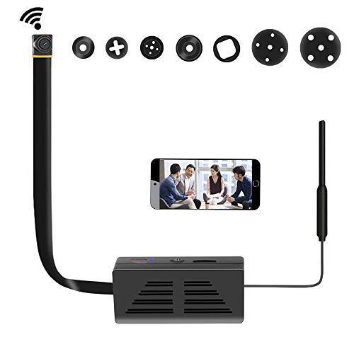 Amyway Mini WLAN Überwachungskamera,1080P HD DIY P2P Netzwerk Klein IP Nanny Compact Sicherheit Kamera Videokamera Internet für Home/Office-Sicherheit Unterstützung iOS/Android/PC MEHRWEG