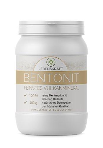 Lebenskraft Bentonit Mineralerde 400g Dose, bis zu 97% Montmorillonit Gehalt, 100% naturreines Vulkanmineral