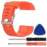 Armband für Fitbit Surge, FNKDOR Silikon Band Wechselarmband Ersatzarmband für Fitbit Fitness Super Watch Fitbit Surge (Orange)